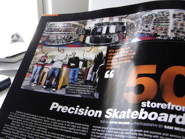Precision Skateboards Lincoln NE Skateshop in The Skateboard Mag's Storefront
